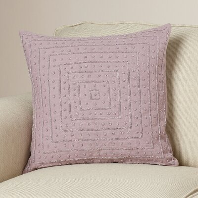 Genevieve Cotton Throw Pillow Size: 22 H x 22 W x 4 D, Color: Mauve
