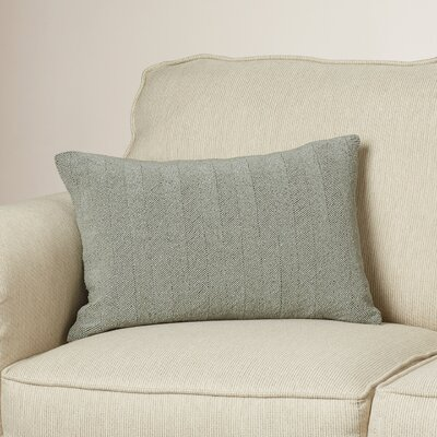 Harbor Cotton Lumbar Pillow Color: Gray