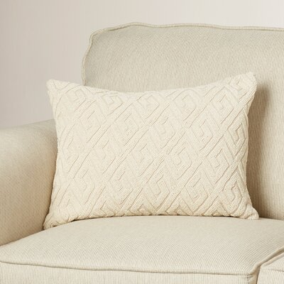 Galvan Lumbar Pillow Color: Ivory/Ivory