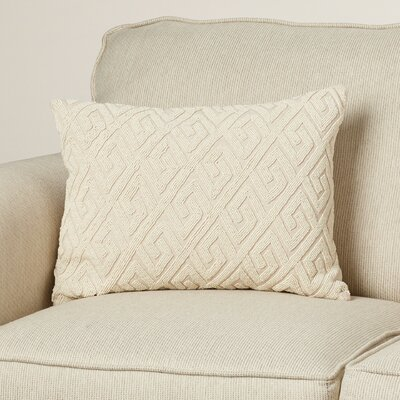 Janelle Down Lumbar Pillow Color: Ivory/Ivory