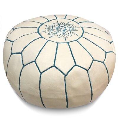 Carolos Pouf Upholstery: White/Blue