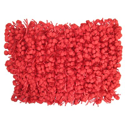 Heerlen Lumbar Pillow Size: 14 x 28, Color: Red