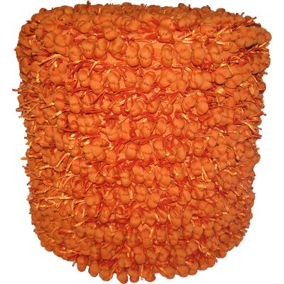 Heerlen Pouf Ottoman Color: Orange