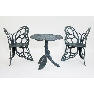 Butterfly 3 Piece Bistro Set Finish: Antique