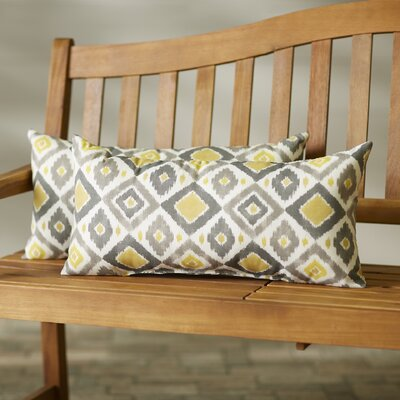 Mellah Outdoor Lumbar Pillow Size: 12x24, Color: Gold