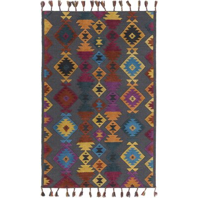 Garza Geometric Hand-Woven Multi Color Area Rug Rug Size: 9 x 13