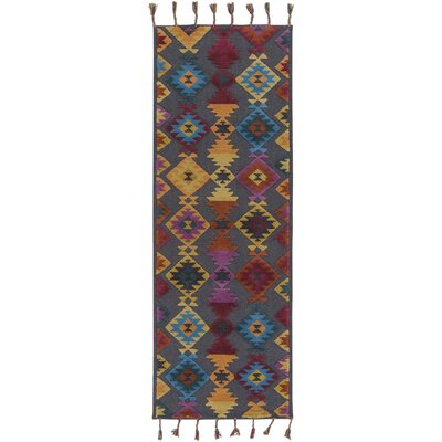 Garza Geometric Hand-Woven Multi Color Area Rug Rug Size: Runner 26 x 8