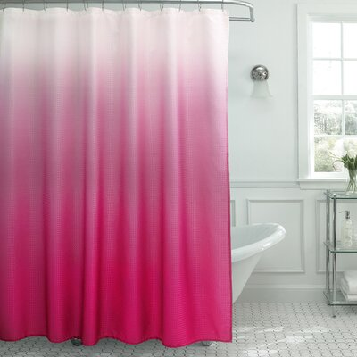 Tighdouine Waffle Fabric Weave Shower Curtain Color: Fuchsia