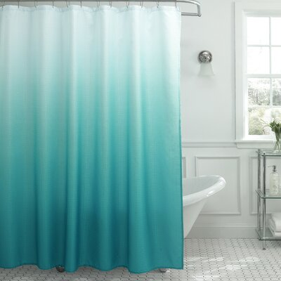 Tighdouine Waffle Fabric Weave Shower Curtain Color: Turquoise