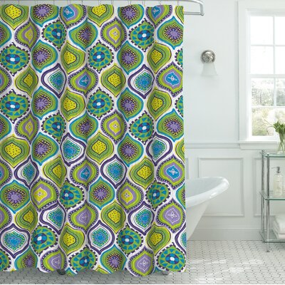 Zemamra Fabric Weave Textured Shower Curtain Set Color: Green