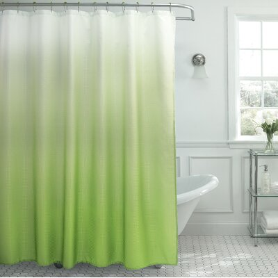 Tighdouine Waffle Fabric Weave Shower Curtain Color: Lime