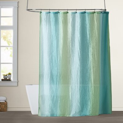 Dismuke Striped Shower Curtain Color: Ombre Blue and Green