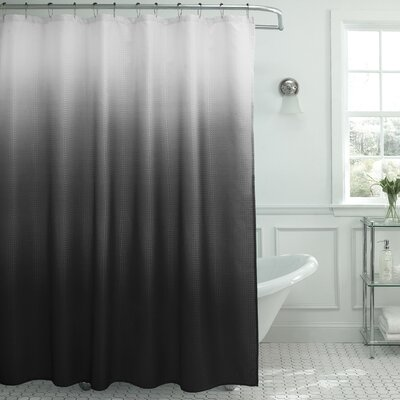 Tighdouine Waffle Fabric Weave Shower Curtain Color: Dark Grey