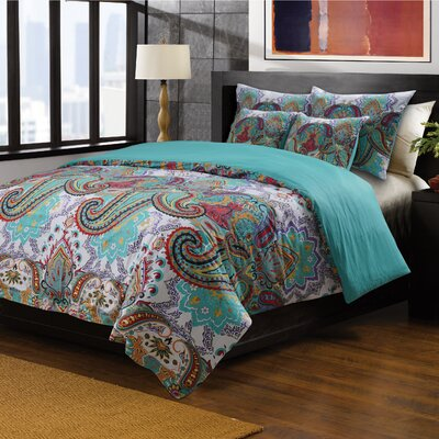 Roskilde Reversible Duvet Cover Set Size: Twin