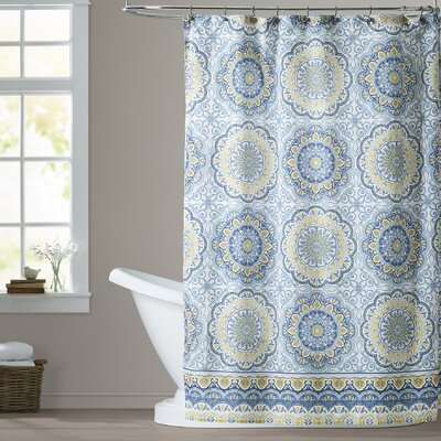 Brayson Shower Curtain Color: Blue