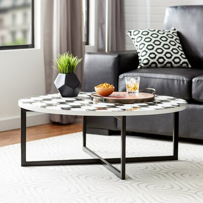 Vejle Coffee Table Finish: Black / White