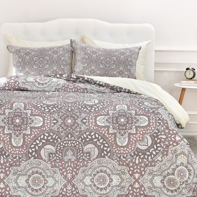 Caroline Border Duvet Cover Set Size: Twin/Twin XL