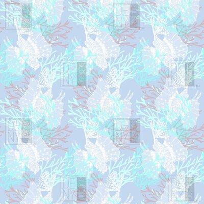 Jade Tiget Fish Fleece Throw Blanket Size: 60 L x 50 W