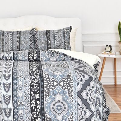 Jade Stripe Duvet Cover Set Size: Twin/Twin XL, Color: Gray