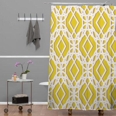 Jade Diamonds Shower Curtain