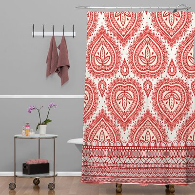 Jade Decorative Shower Curtain Color: Red