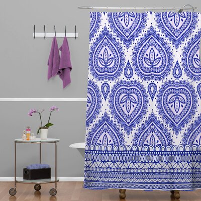 Jade Decorative Shower Curtain Color: Blue