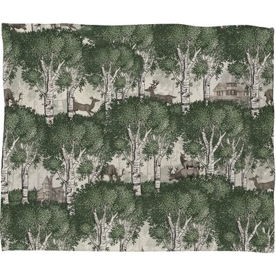Silkeborg  Secret Forest Plush Fleece Throw Blanket