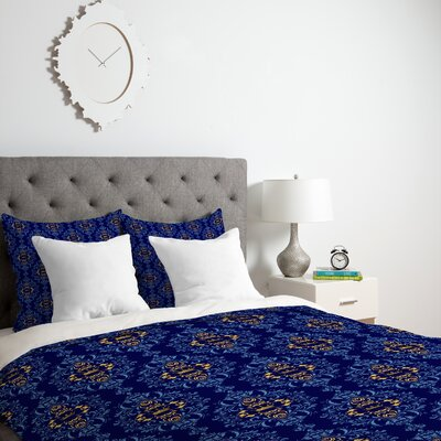 Royal Damask Pattern Duvet Cover Size: Twin, Fabric: Lightweight