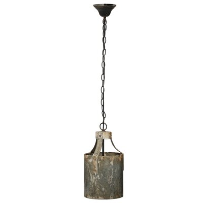 Conway 1-Light Metal Drum Pendant