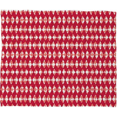Oosterhout Plush Fleece Throw Blanket Color: Red, Size: Medium