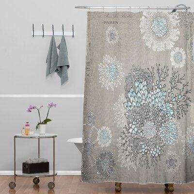 Terra French Blue Extra Long Shower Curtain