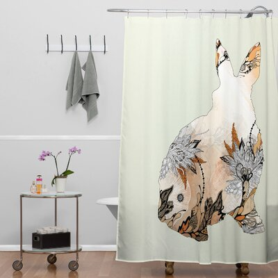 Holley Little Rabbit Shower Curtain