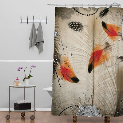 Terra Feather Dance Shower Curtain