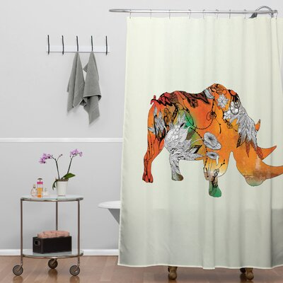 Terra Rhino Shower Curtain