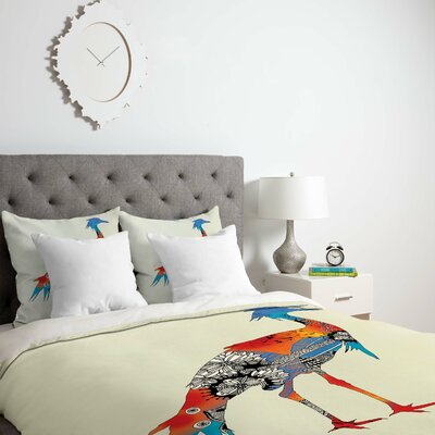 Bluebird Duvet Cover Size: King, Fabric: Lightweight