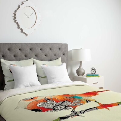 Little Bird Duvet Cover Size: King, Fabric: Lightweight