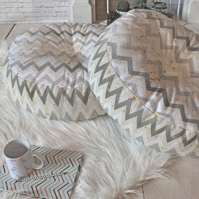 Holley Chevron Confetti Round Floor Pillow Size: 23