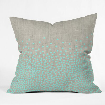 Holley Hint of Mint Outdoor Throw Pillow Size: 18 H x 18 W x 5 D