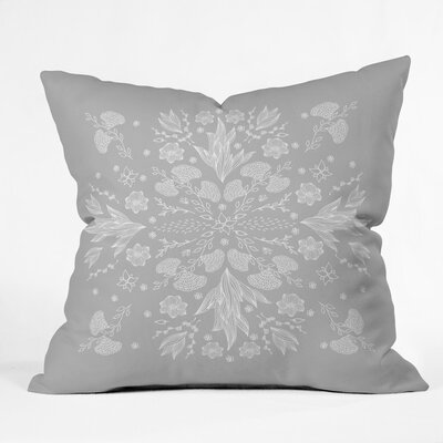 Holley Floral Ii Outdoor Throw Pillow Size: 16 H x 16 W x 4 D