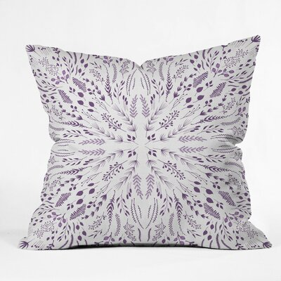 Terra Outdoor Throw Pillow Size: 16 H x 16 W x 4 D, Color: Lavender