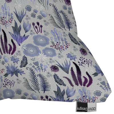 Holley Purple Fields Outdoor Throw Pillow Size: 18 H x 18 W x 5 D