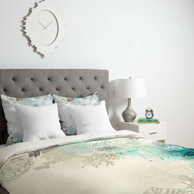Seafoam Duvet Cover Size: Queen, Fabric: Lightweight