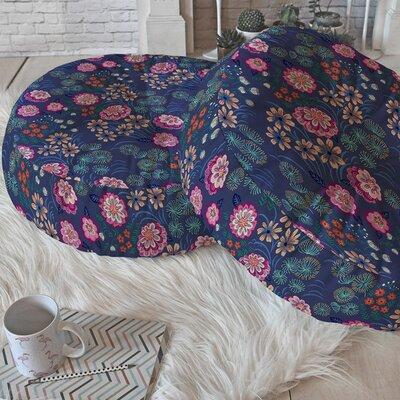 Igourdane Floral Gems Round Floor Pillow Size: 23 H x 23 W x 6 D