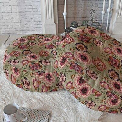 Igourdane Carnation Round Floor Pillow Size: 23 H x 23 W x 6 D