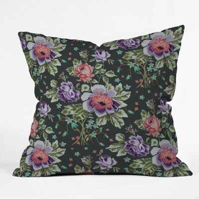Soltane Floral Outdoor Throw Pillow