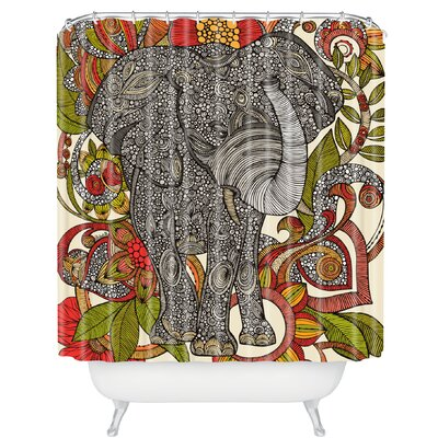 Deepak Owls Extra Long Shower Curtain