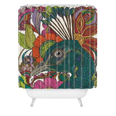 Deepak Alexis And The Flowers Extra Long Shower Curtain