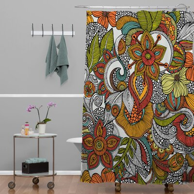 Deepak Ava Extra Long Shower Curtain