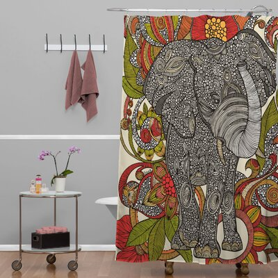 Deepak Bo The Elephant Extra Long Shower Curtain