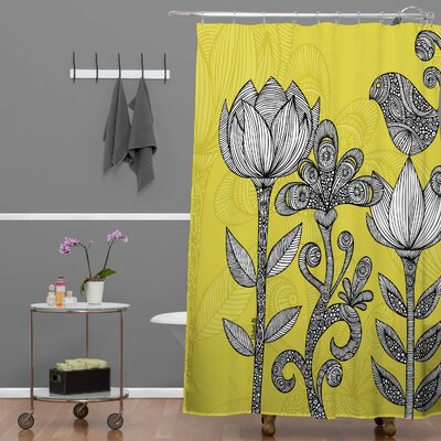 Deepak Garden Extra Long Shower Curtain